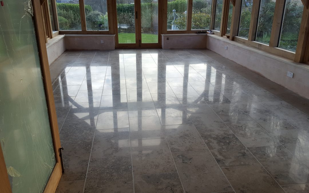 Jura limestone extention tiling and floor polishing & Renovation – Goffs Oak, Broxbourne