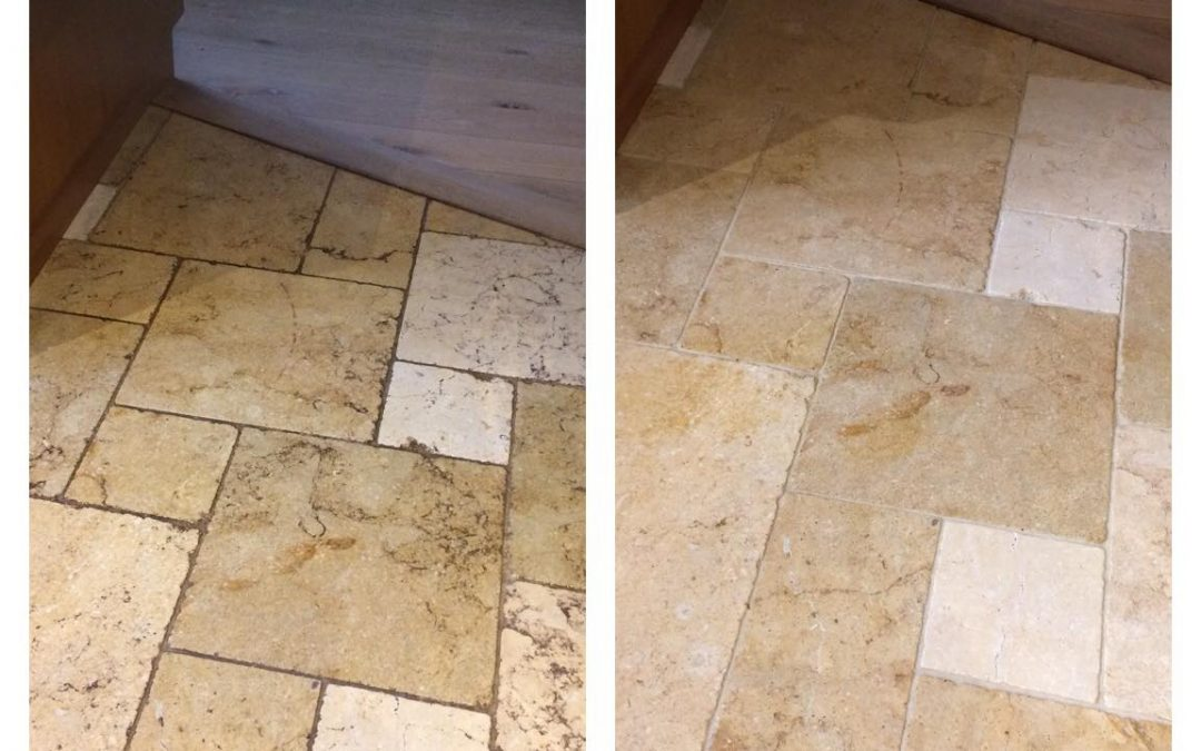 How to deep clean limestone tiles and the grout in Guildford – Surrey