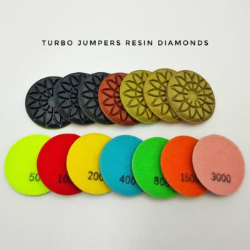 Turbo jumper resin diamonds