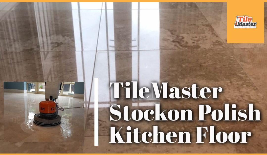 TileMaster Stockton Polish Marble Kitchen Floor in Wynyard